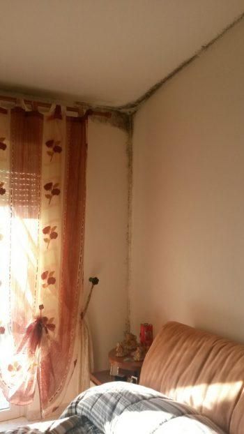 Come togliere la muffa dal muro della camera da letto - Letto ribaltabile a muro ...