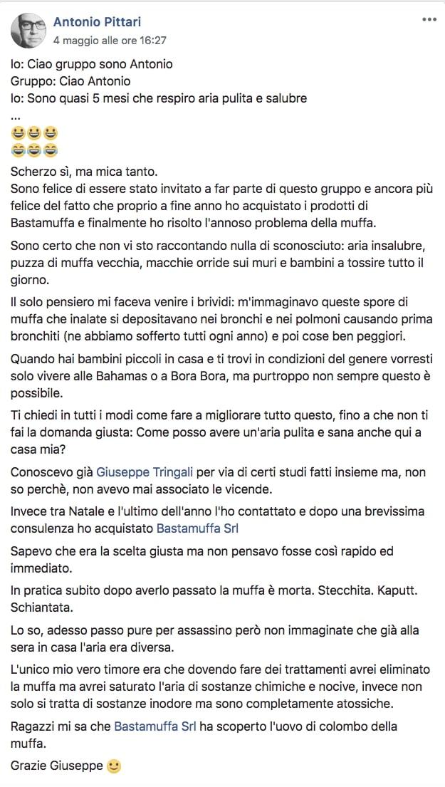 testimonianze bastamuffa