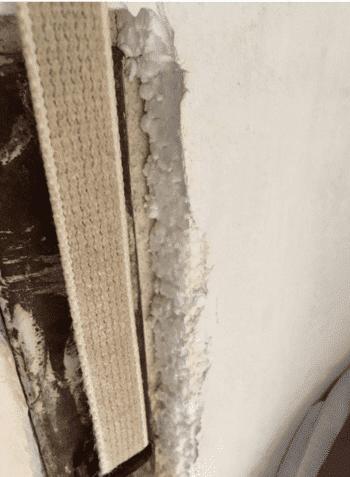 pannelli polistirolo e muffa